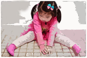 девочка наклоны